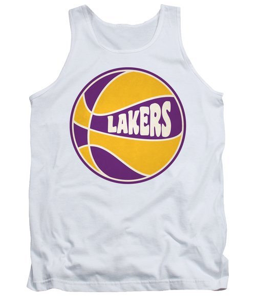 Los Angeles Lakers Retro Shirt Tank Top by Joe Hamilton