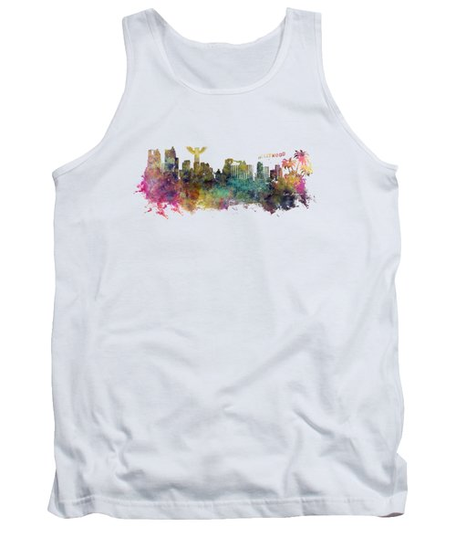 Los Angeles Skyline Tank Top by Justyna JBJart