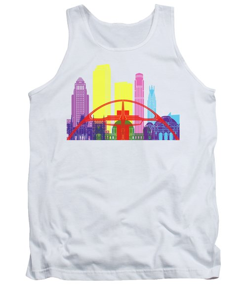 Los Angeles Skyline Pop Tank Top by Pablo Romero