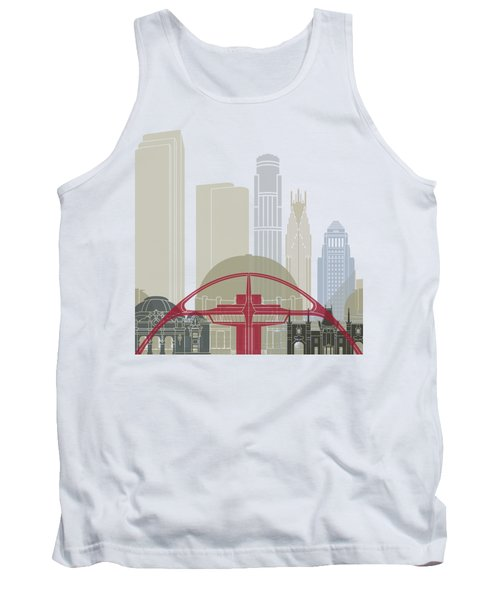 Los Angeles Skyline Poster Tank Top by Pablo Romero
