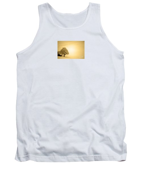 Tank Top featuring the photograph Lost In Snow - Winter In Switzerland by Susanne Van Hulst