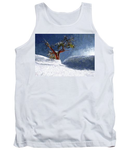 Lost In The Snow Tank Top by Alex Galkin