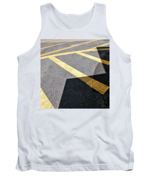 Tank Top featuring the photograph Lot Lines by Eric Lake