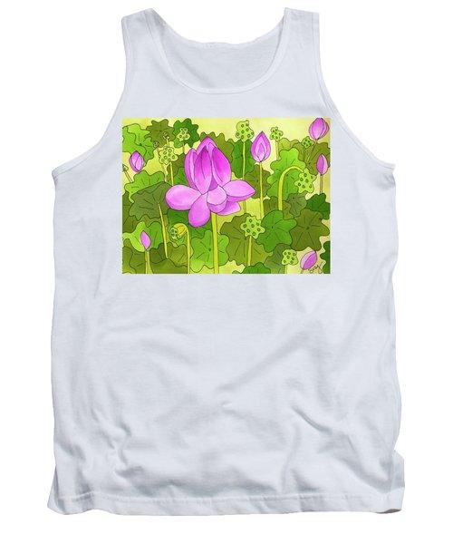 Lotus And Waterlilies Tank Top