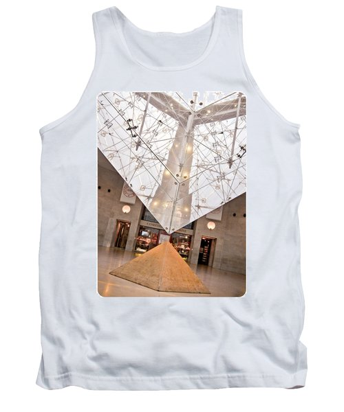 Tank Top featuring the photograph Louvre Pyramid by Silvia Bruno