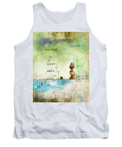 Love And A Cat Ginkelmier Tank Top