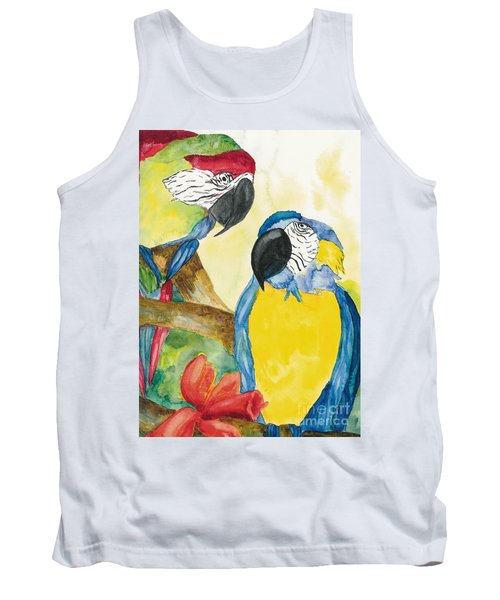 Tank Top featuring the painting Love Birds by Vicki  Housel