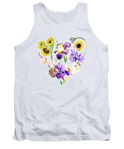 Tank Top featuring the painting Love Flowers by Irina Sztukowski