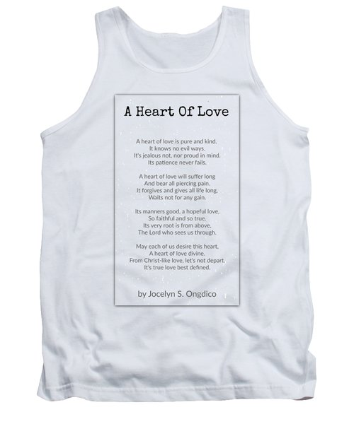 Love Heart Tank Top by David Norman