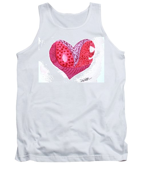 Tank Top featuring the painting Love Heart by Donna Walsh