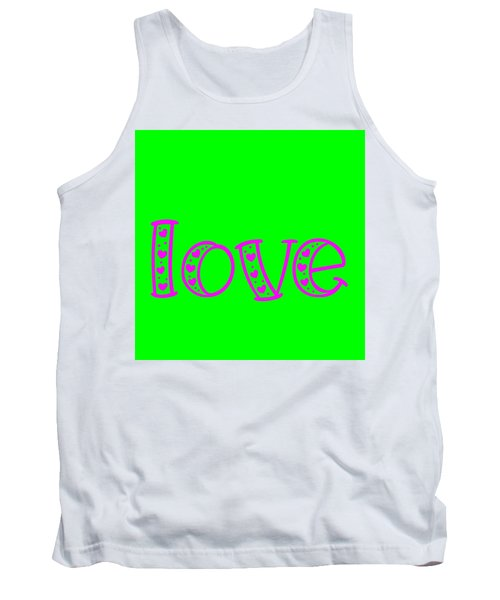 Love In Magenta And Green Tank Top
