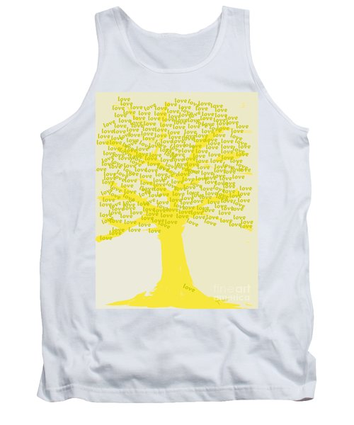 Tank Top featuring the painting Love Inspiration Tree by Go Van Kampen