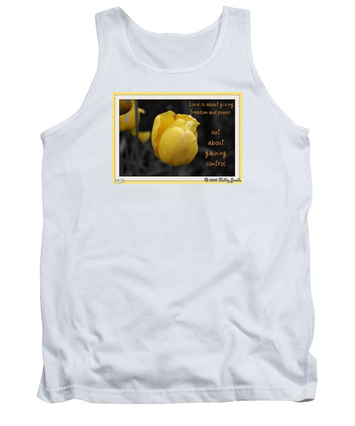 Love Is About Giving Tank Top by Holley Jacobs