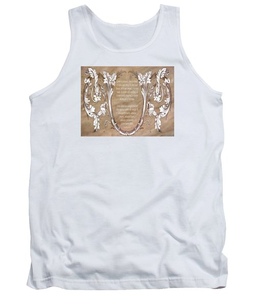 Tank Top featuring the digital art Love Is Patient by Angelina Vick