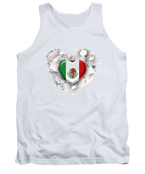 Tank Top featuring the digital art Love Mexico.1 by Alberto RuiZ