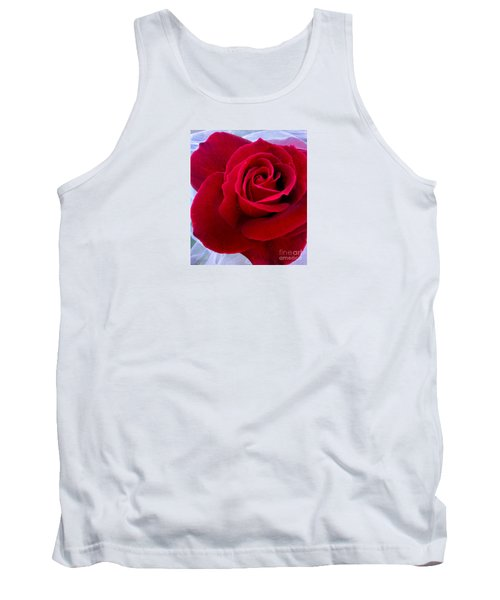 Tank Top featuring the photograph Love Red Rose by Haleh Mahbod