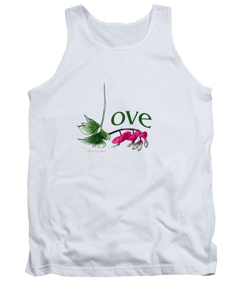 Tank Top featuring the digital art Love Shirt by Ann Lauwers