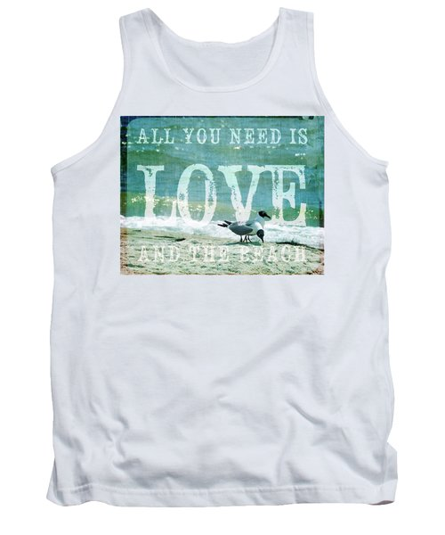 Love The Beach Tank Top by Jan Amiss Photography