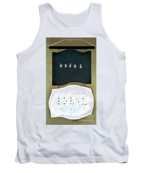 Tank Top featuring the painting Love U by Fei A