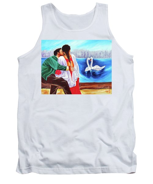 Tank Top featuring the painting Love Undefined by Ragunath Venkatraman