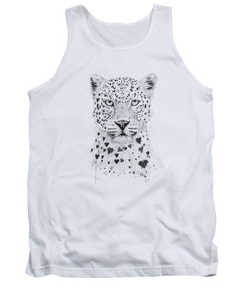 Lovely Leopard Tank Top by Balazs Solti