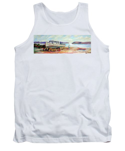 Tank Top featuring the painting Lovie by Patricia Piffath