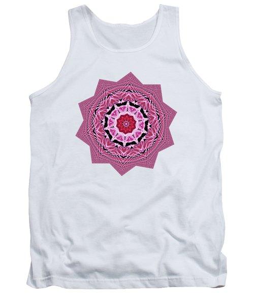 Loving Rose Mandala By Kaye Menner Tank Top by Kaye Menner