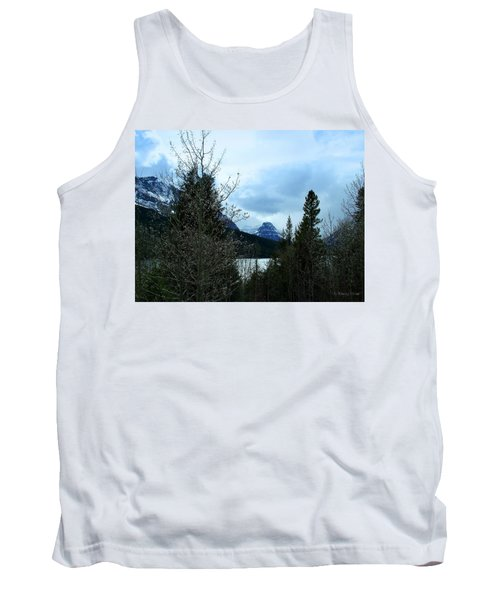 Lower Two Med Lake Through The Trees Tank Top