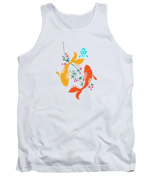 Lucky Koi Fish Tank Top by Naviblue