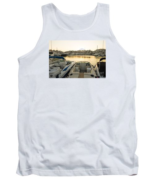 Luxury Yachts Puerto Banus Tank Top by Perry Van Munster