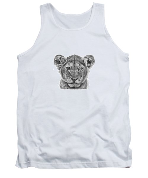 Lyla The Lion Cub Tank Top by Abbey Noelle