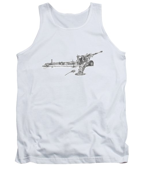 M198 Howitzer - Standard Size Prints Tank Top
