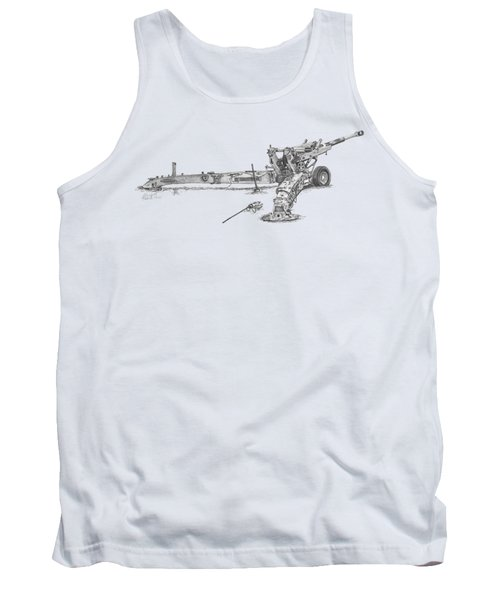 M198 Howitzer - Natural Sized Prints Tank Top