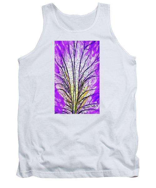 Macro Iris Petal Tank Top
