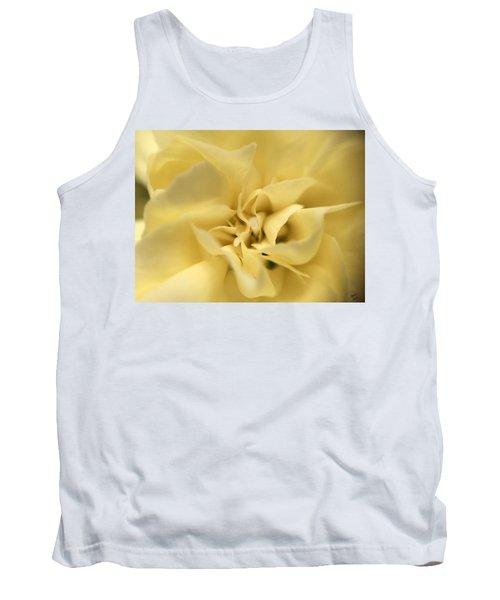 Macro Yellow Rose Tank Top
