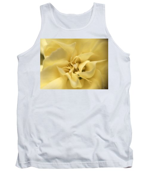 Macro Yellow Rose Tank Top