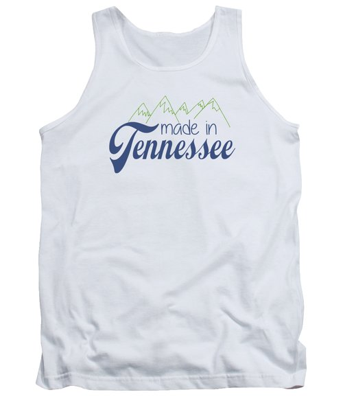 Tank Top featuring the photograph Made In Tennessee Blue by Heather Applegate