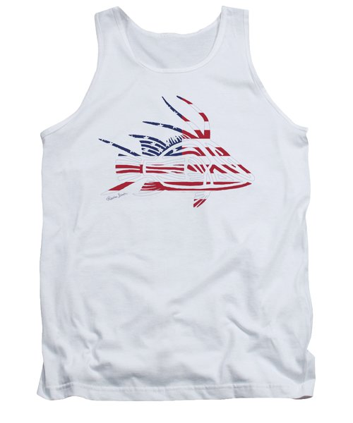Made In The Usa Tribal Hogfish Tank Top