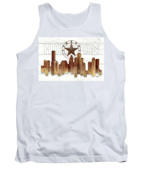 Made-to-order Houston Texas Skyline Wall Art Tank Top