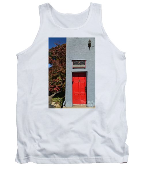 Madison Red Fire House Door Tank Top