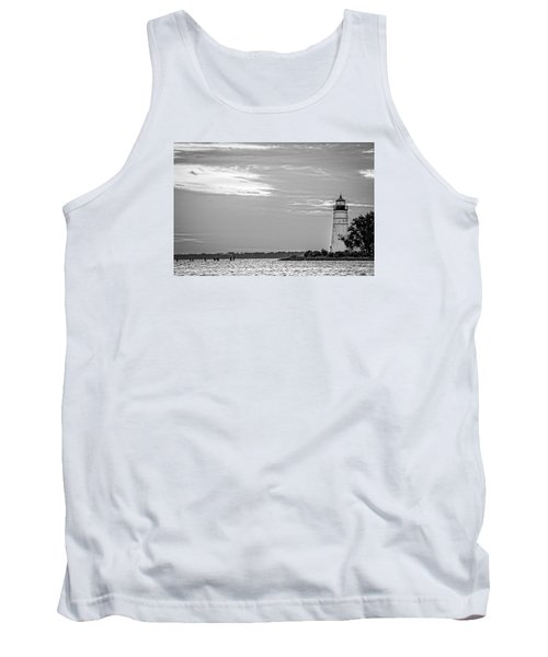Madisonville Lighthouse In Black-and-white 2 Tank Top by Andy Crawford