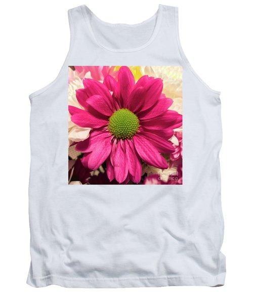 Magenta Chrysanthemum Tank Top