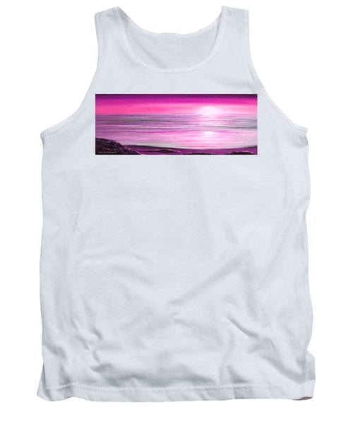 Magenta Panoramic Sunset Tank Top