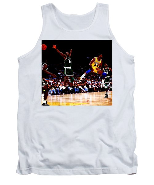 Magic Johnson No Look Pass 7a Tank Top by Brian Reaves