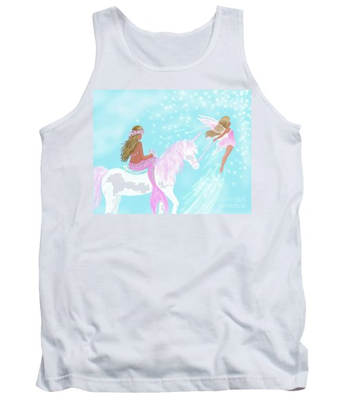 Tank Top featuring the painting Magical Play Day by Leslie Allen