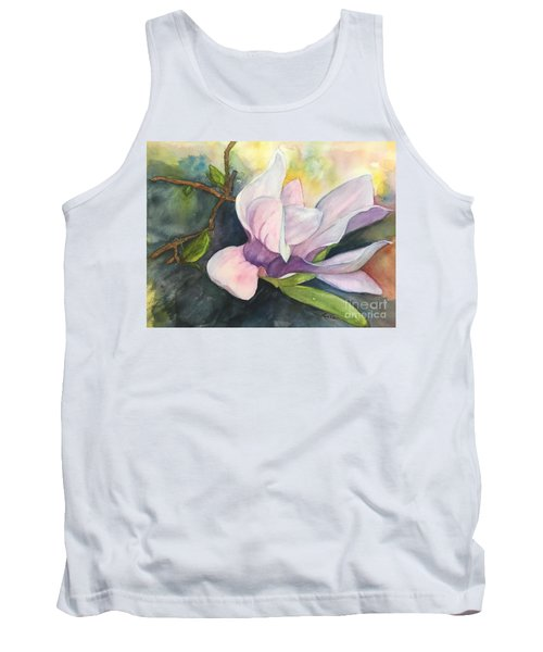Magnificent Magnolia Tank Top by Lucia Grilletto