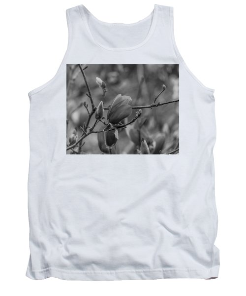 Magnolia Bw Blooms Buds Branches Tank Top