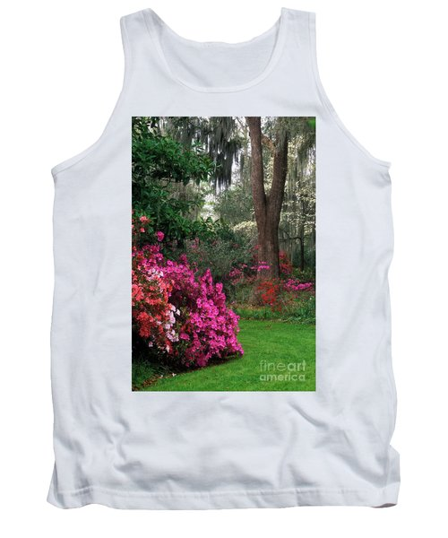 Tank Top featuring the photograph Magnolia Plantation - Fs000148a by Daniel Dempster