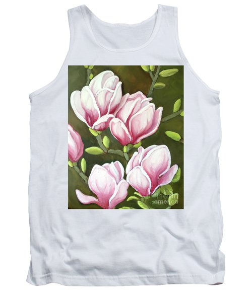 Magnolias Tank Top by Inese Poga