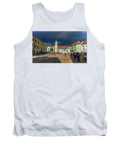 Main Square In The Old Town Of Bratislava, Slovakia Tank Top
